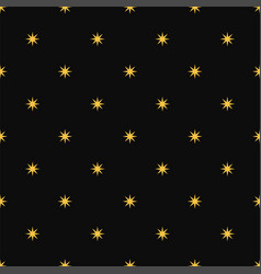 seamless luxury pattern of golden stars vector image