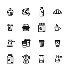 set flat icons coffee vector image
