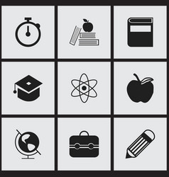 set of 9 editable knowledge icons includes vector image vector image
