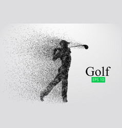 Silhouette a golf player vector