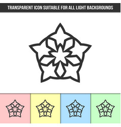 simple outline transparent abstract icon on vector image