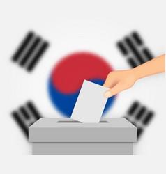 South korea election banner background vector