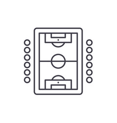 table soccer play line icon concept table soccer vector image