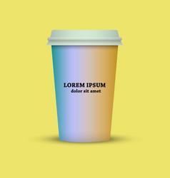 thermal mug coffee cup to go vector image