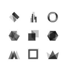 Transparent design elements vector