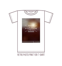 Trendy graphic design for t shirt vector