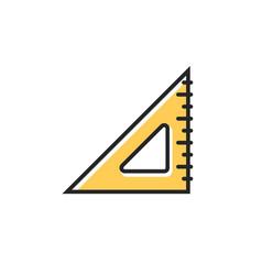 triangle measurement protractor icon vector image