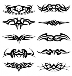 tribal tattoo pack vector image