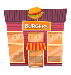 urban restaurant construction with burgers vector image