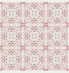 vintage seamless ceramic pattern background vector image