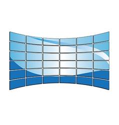 blue tv monitors vector image