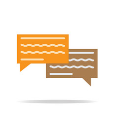 chatting icon on white background chatting sign vector image