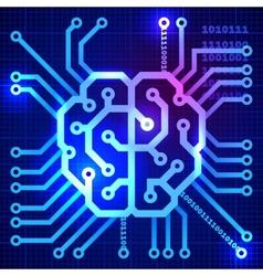 Cyber brain vector image vector image