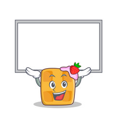 up board waffle character cartoon design vector image