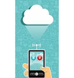 Cloud computing communication vector image vector image