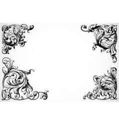 floral swirl corners vector image vector image