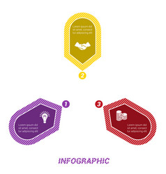 infographic points arranged in circle three vector image vector image