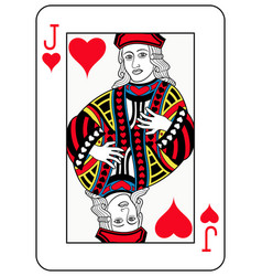 jack of hearts french version vector image vector image