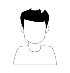 Portrait of man avatar icon image vector