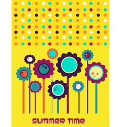 summer time flower card vector image vector image