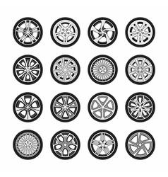 Wheel disks vector image