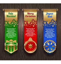 Banners with Christmas greetings and signs vector image vector image