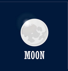 bright moon on the night sky realistic moon in vector image vector image