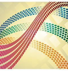 Mosaic waves vector image