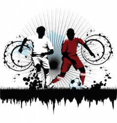 soccer attack vector image vector image