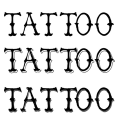 Tattoo Doodle Letters vector image vector image