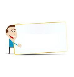cartoon businessman sign vector image vector image