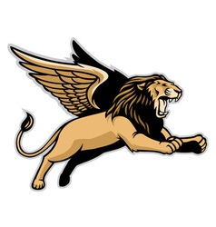 flying winged lion vector image vector image