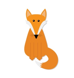 Fox Cute cartoon character Forest animal vector image vector image