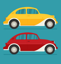 isolated cars flat design style vector image vector image