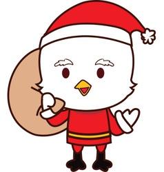 Little Chicken Santa vector image