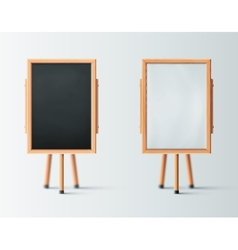 Two Wooden Easel vector image vector image