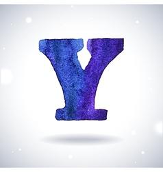 Watercolor letter Y vector image vector image