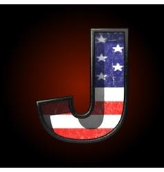 American metal figure j vector