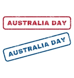 Australia Day Rubber Stamps vector image