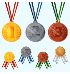 Award medals set vector image