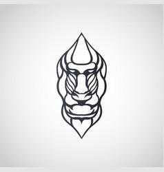 Baboon logo icon design vector
