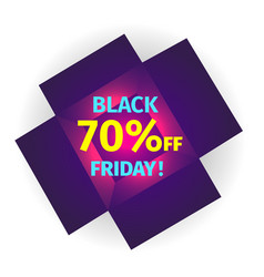 black friday banner in the form of an open box vector image