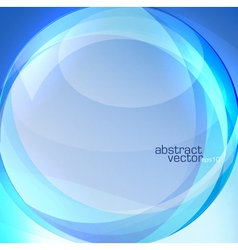 Blue transparent lens background vector