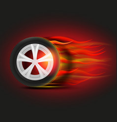 Burning tyre image vector