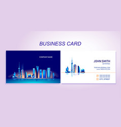 Business card city vector