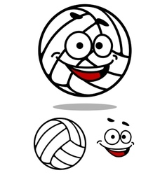Cartoon cute volleyball ball vector image