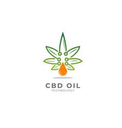 Cbd oil technology vector