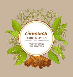Cinnamon frame vector