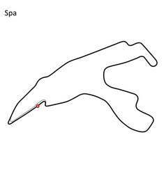 Circuit de spa-francorchamps vector