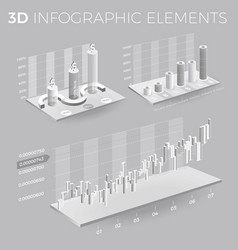 corporate infographic elements in gray and white vector image